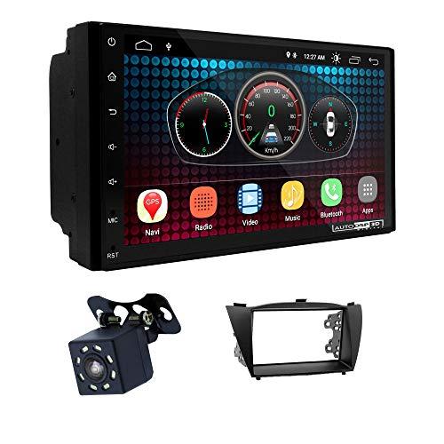 UGAR EX6 7 pollici Android 6.0 DSP Navigazione GPS per Autoradio + 11-070 Kit di Montaggio compatibile per Hyundai iX-35, Tucson iX 2010+