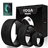 Seven Sparta Yoga Wheel Set 3 Pack Back Roller Wheel with Bag for Stretching, Back Pain Relief, Backbends and Bodyweight Exercices, 13Inch, 10.5Inch, 6.5Inch (Black)