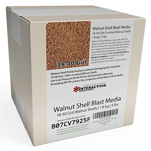 4 lbs or 1.8 kg Ground Walnut Shell Media 18-40 Grit - Medium to Fine Grit Walnut Shells for Tumbling, Vibratory Or Blasting