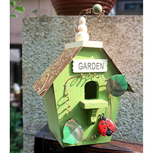 LCZ Vintage Nistkasten Vogelhaus Vogelhäuschen, Super Villa Für Kleinsingvögel, Geschenk Für Vögel,C