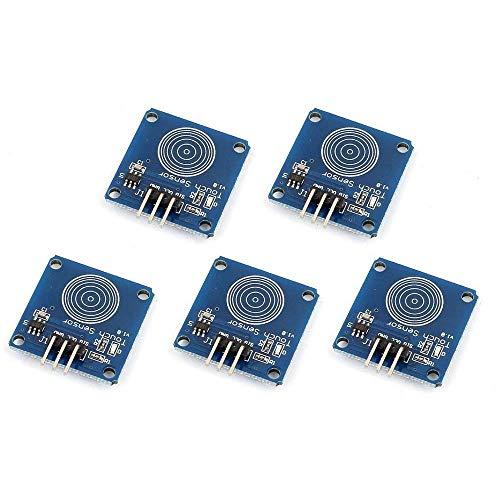 TOOGOO 5pzs TTP223B Sensor tactil digital Modulo de interruptor tactil capacitivo para