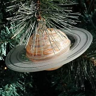 Blown Glass Saturn Ornament