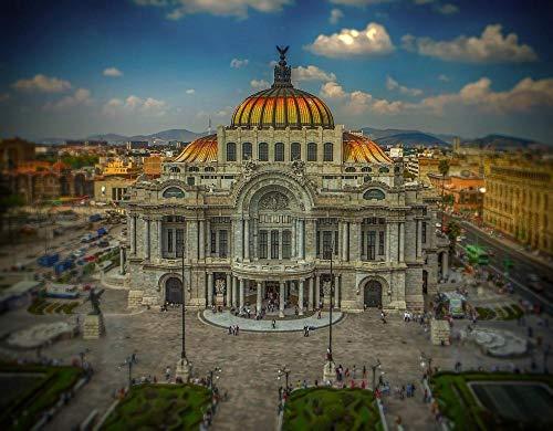 Rompecabezas clásico México Ciudad de México Palacio Arte Teatro Arquitectura Juegos de Rompecabezas para la Damilia, Juguetes Educativos-500 piezas
