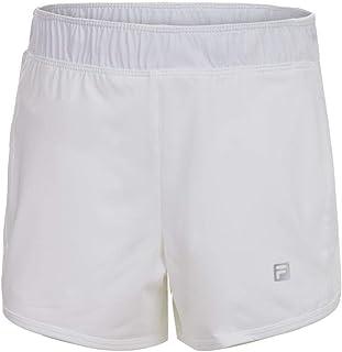شورت التنس ذو طبقتين من Fila Girls' بلون أبيض ()