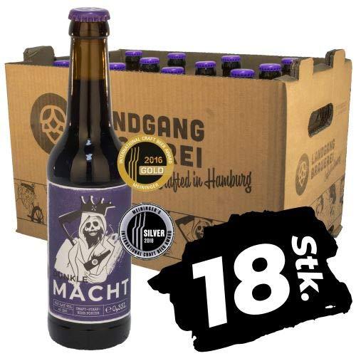 Landgang Brauerei - Dunkle Macht - Smoked Porter - 18er Karton (18 x 0,33l) - 6,6%