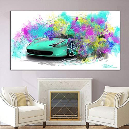 Pintura abstracta patrón de pintura en lienzo póster mural mural art decorating living room wall40 * 80 cm sin marco