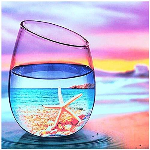 CPFYZH 1000-teiliges Puzzle-Lernspiel für Erwachsene und Kinder Starfish Beach In A Glass