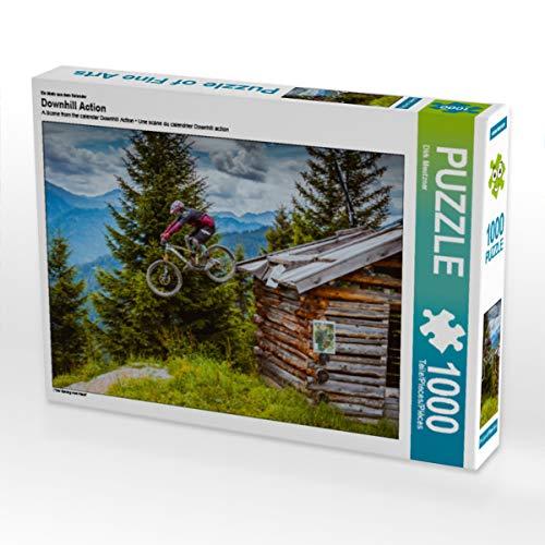 CALVENDO Puzzle Downhill Action 1000 Teile Lege-Größe 64 x 48 cm Foto-Puzzle Bild von Dirk Meutzner