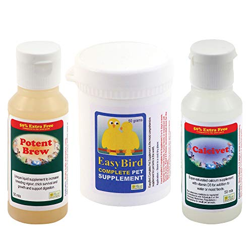 Garden Feathers Feather Plucking Rescue Pack (Calcivet/Potent Brew/Easy Bird Complete Pet Supplement) - The Birdcare Company