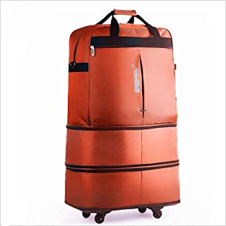 Ysswjzz Ultra Lightweight Foldable Compact Hand Cabin Luggage,Ultra Travel Carry On Lightweight Packable Backpack (Color : Orange)