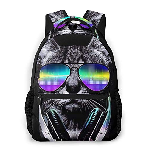Lawenp Cool Kittens Kids School Backpack Lightweight Travel Bag for Girls Students