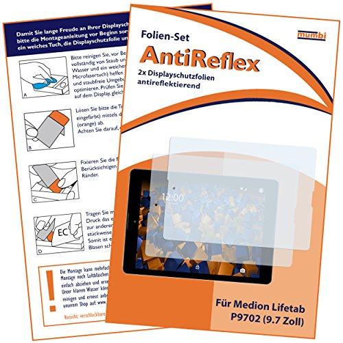 mumbi Schutzfolie kompatibel mit Medion Lifetab P9701 9,7Zoll Folie matt, Bildschirmschutzfolie (2X)