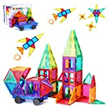 Magnetic Tiles for Kids 3D Magnet Building Tiles Set STEM Learning Toys Magnetic Toys Gift for 3+ Year Old Boys and Girls