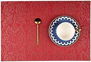 Sets de Table Motif PVC noble fleur napperons Table à manger Runner Linge napperon (Color : Purple, Shape Style : 6pcs)