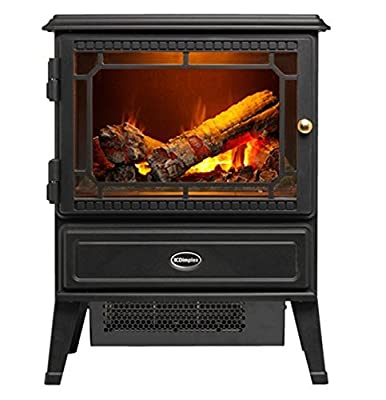 Dimplex GOSFORD Opti-myst Electric Fire, Steel, Black