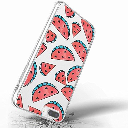 Inonler TPU Flexible Transparente de sandía roja Deliciosa Fruta de Verano. Funda para iPhone 6S(4,7'), para iPhone 6, Funda Morado
