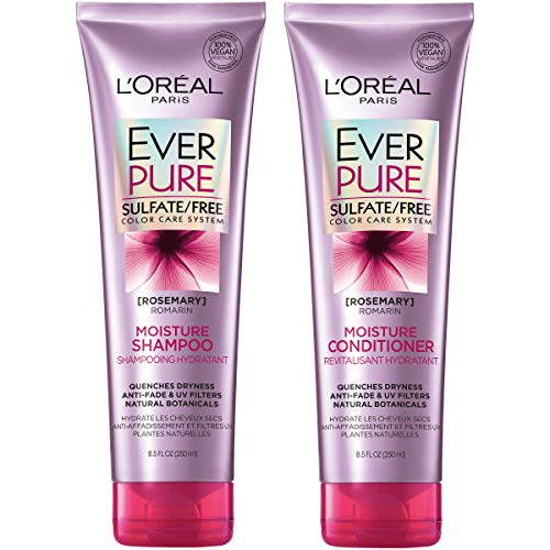 L'Oréal Paris EverPure Moisture Shampoo and Conditioner Kit for Color-Treated Hair, 8.5 Ounce, Set of 2