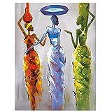 Diamond Painting 5D,Mujer de color abstracto Cuadro Diamante DIY...