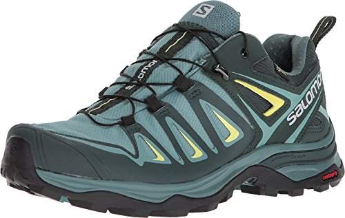 SALOMON Damen Shoes X Ultra Wanderschuhe, Weiß (Artic/Darkest Spruce/Sunny Lime), 45 1/3 EU