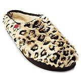 Zapatillas de Estar por casa para Hombre y Mujer - ESAM001- Slippers - para Unisex Adulto - Suela de Goma Vulcanizada Resistentes y Antideslizante - Leopardo EU 36