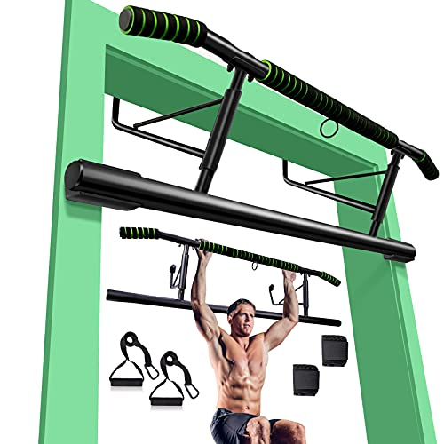 Pull up Bar for Doorway, Heavy Duty Door Pull Up Bar Chin Up Bar Angled Grip Strength Training Pull-up Bars Iron Gym Workout Equipmen,Easy-to-Storage Exercise Workout Bar No Screws