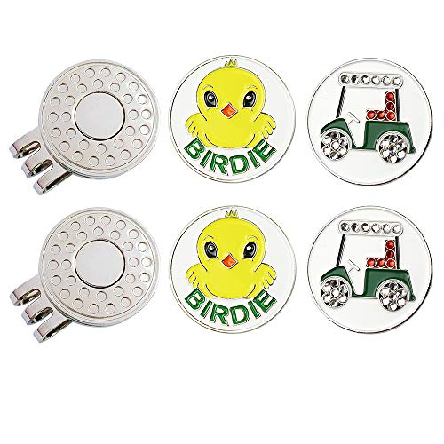 GOLTERS Golf Ball Markers with Hat Clips Value Sets for Men Women Golfer, Removable Attaches Easily to Golf Cap Premium Gifts