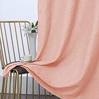 2-Set Bonzer 3D Embossed Textured Matelasse Sculptured Curtains