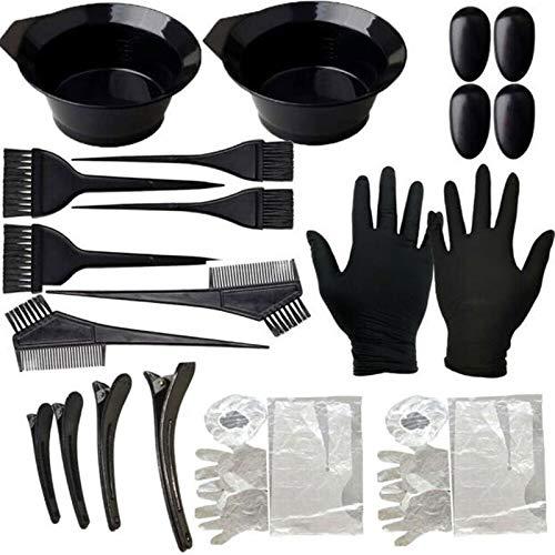 FADACAI Lot de 22 kits de coloration pour cheveux avec pinceau, peigne, bol mélangeur