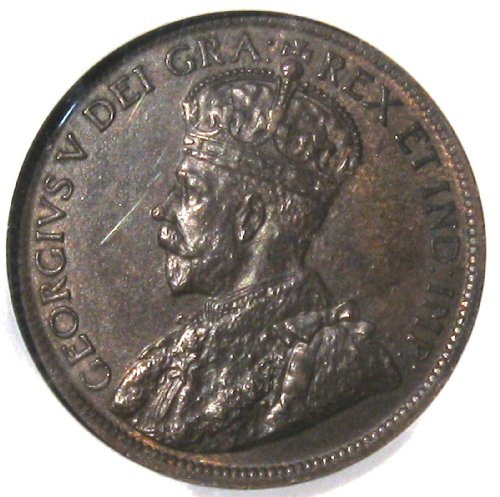 1916 Canadian Penny King Goerge Large Copper Cent Old coin Certified UNC MS 64 by NGC