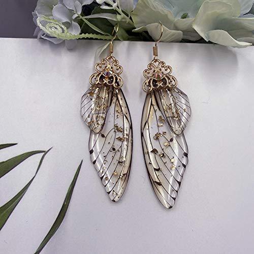 Handgemachte Fee Simulation Flügel Ohrringe Insekt Schmetterling Flügel Tropfen Ohrringe Folie Strass Ohrringe Romantischer Brautschmuck-3
