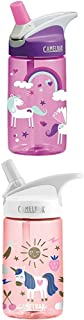 CamelBak Kids Eddy Water Bottle, 0.4 L, Unicorns Eddy Kids ENG/SPN, Unicorn Party.4L