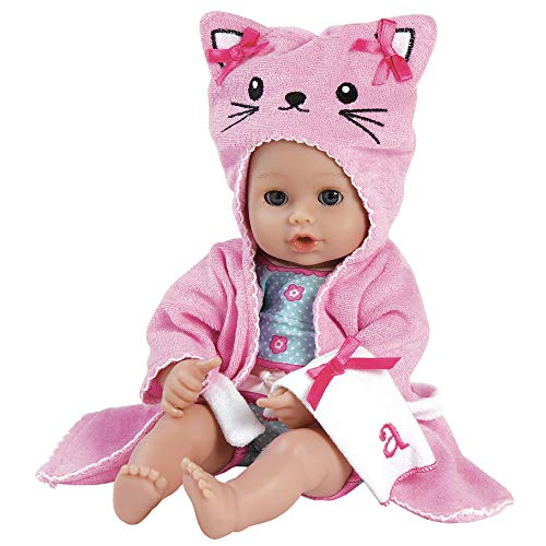 Adora Baby Bath Toy Kitty, 13 inch Bath Time Doll with QuickDri Body