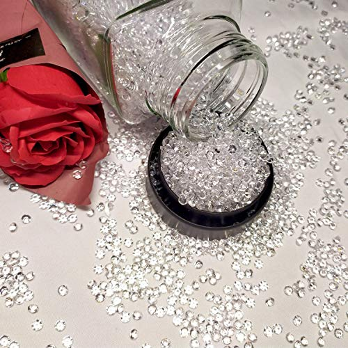 SAYUAN 4.5mm 10000pcs Clear Crystal Acrylic Diamond Vase Fillers for Table Scatter Ice Cubes Wedding Decoration Party Supply DIY Arts Crafts