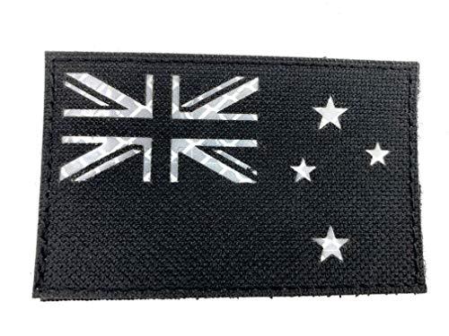 Nieuw-Zeeland Vlag Zwart Reflecterende Tactische Geborduurde Airsoft Paintball Cosplay patch