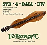 Folkcraft Mountain Dulcimer String Set, Ball Ends (.011' .011' .013' .024'BW)
