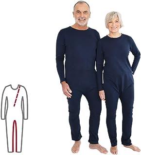 Pflegeoverall für Frauen und Männer slim lang mit Bein- und Rückenreißverschluss Demenz Overall ActivePro M