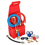 Mophorn Professional Portable Welding Cutting Brazing Outfit Torch Tool Kit with Plastic Carrying Stand