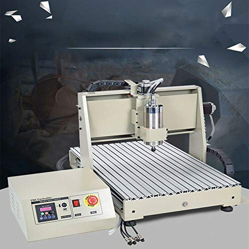 DYRABREST 4 AXIS CNC 6040 Router Kit,1500W Milling Engraving Machine for Wood, Pmma,MDF Boards, Logs, PVC, Acrylic, Metal, Composite Materials Plywood,Connectable to Computer Equipment