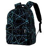 Mochila para niños y niñas para la escuela azul abstracto fractal círculo lindo mochilas para primaria o jardín de infancia 29.4x20x40cm, Abstract14, 29.4x20x40cm, Mochilas Daypack