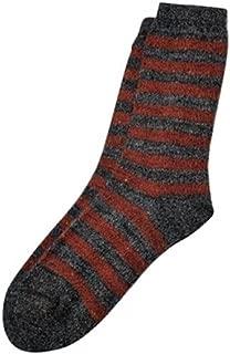 Tey-Art - Melange Striped Alpaca Socks - Rust - Medium