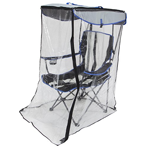 Kelsyus Canopy Chair with Weather Shield - Outdoor Folding Chair with Umbrella - Beach Canopy Chair