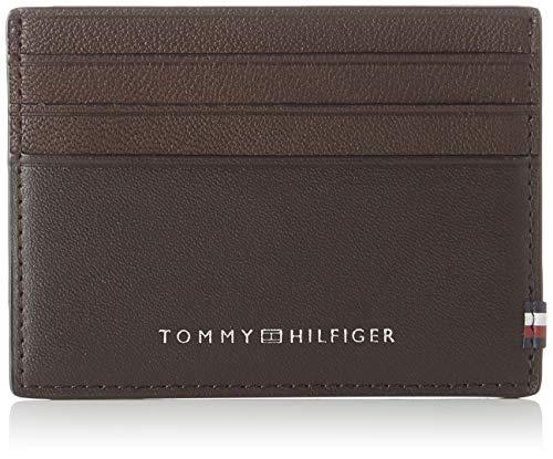 Tommy Hilfiger - Textured Cc Holder, Carteras Hombre, Multicolor (Testa Di Moro), 0.1x0.1x0.1 cm (W x H L)