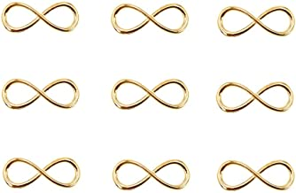 50pcs Infinity Symbol Connectors Charms Pendants for DIY Bracelet Necklace Jewelry Making Accessories(Golden)