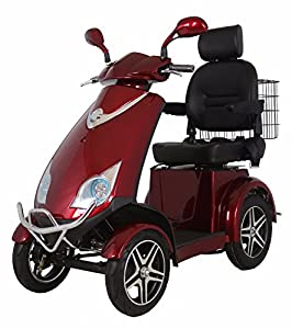 4 Wheeled Electric Mobility Scooter by Green Power (Red)