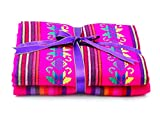 2 Yards Mexican Fabric by The Yard, Aztec...