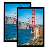 Frametory 13x19 Poster Frame Set of 2, 13 by 19 Picture Frame Black Gallery Wall Frame Vertical or Horizontal, with Plexiglass (13x19, 2-Pack)