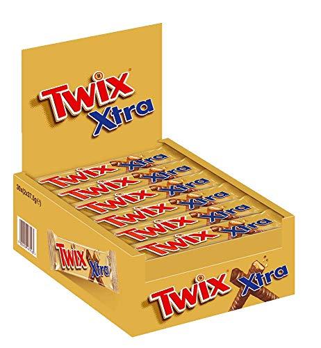 Twix Schokoriegel | Xtra lang, Keks | 30 Doppelriegel in einer Box (30 x 2 x 37,5 g)
