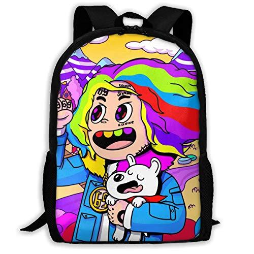 sghshsgh Backpack for Men Women 6ix9ine Backpacks Hiking Laptop Backpack Travel Large Shoulder Bags for School Shopping Outdoor Sports