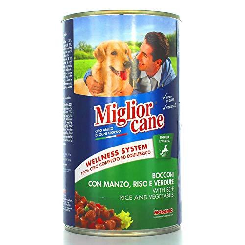 MigliorCane Bocconi, Manzo Riso e Verdure, 1 X 1250 Grammi