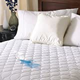 Sunbeam Heated Mattress Pad | Water-Resistant, 10 Heat Settings , White , Queen...